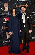 Stockholm, 25-01-2016<br /> <br /> <br /> Prince Carl Philip and Princess Sofia attend Sports Gala 2016<br /> <br /> Royalportraits Europe/Bernard Ruebsamen