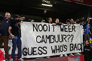 Onderwerp/Subject: Cambuur Leeuwarden - Jupiler League<br /> Reklame:  <br /> Club/Team/Country: <br /> Seizoen/Season: 2012/2013<br /> FOTO/PHOTO: Supporters of Cambuur Leeuwarden celebrating promotion with banner. (Photo by PICS UNITED)<br /> <br /> Trefwoorden/Keywords: <br /> #02 #11 $94 &plusmn;1367598354739 &plusmn;1367598354739<br /> Photo- &amp; Copyrights &copy; PICS UNITED <br /> P.O. Box 7164 - 5605 BE  EINDHOVEN (THE NETHERLANDS) <br /> Phone +31 (0)40 296 28 00 <br /> Fax +31 (0) 40 248 47 43 <br /> http://www.pics-united.com <br /> e-mail : sales@pics-united.com (If you would like to raise any issues regarding any aspects of products / service of PICS UNITED) or <br /> e-mail : sales@pics-united.com   <br /> <br /> ATTENTIE: <br /> Publicatie ook bij aanbieding door derden is slechts toegestaan na verkregen toestemming van Pics United. <br /> VOLLEDIGE NAAMSVERMELDING IS VERPLICHT! (&copy; PICS UNITED/Naam Fotograaf, zie veld 4 van de bestandsinfo 'credits') <br /> ATTENTION:  <br /> &copy; Pics United. Reproduction/publication of this photo by any parties is only permitted after authorisation is sought and obtained from  PICS UNITED- THE NETHERLANDS