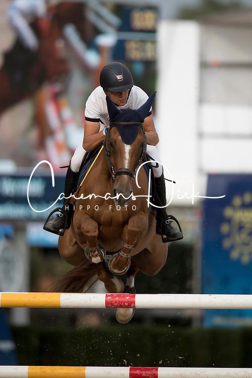 Vermeir Wilm, BEL, Gentiane de la Pomme<br /> Belgisch Kampioenschap Jumping - Lanaken 2016