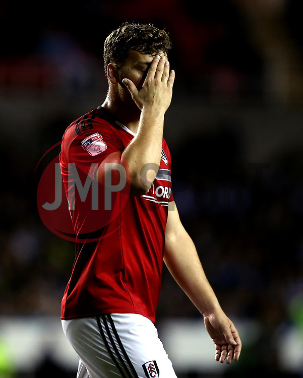 Chris Martin of Fulham looks dejected during his sides defeat to Reading in the Championship Playoff Semi-Final - Mandatory by-line: Robbie Stephenson/JMP - 16/05/2017 - FOOTBALL - Madejski Stadium - Reading, England - Reading v Fulham - Sky Bet Championship Play-off Semi-Final 2nd Leg