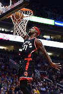 Dec 29, 2016; Phoenix, AZ, USA;  Toronto Raptors forward Terrence Ross (31) dunks the ball against the Phoenix Suns in the first half of the NBA game at Talking Stick Resort Arena. Mandatory Credit: Jennifer Stewart-USA TODAY Sports