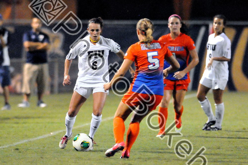 2013 September 01 - FIU's Marie Egan (6). <br /> Florida International University fell to the University of Florida, 4-0, at the FIU Soccer Complex, Miami, Florida. (Photo by: www.photobokeh.com / Alex J. Hernandez) This image is copyright PhotoBokeh.com and may not be reproduced or retransmitted without express written consent of PhotoBokeh.com. &copy;2013 PhotoBokeh.com - All Rights Reserved