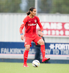 Rangers Bilel Moshsni. Falkirk 0 v 2 Rangers, Scottish Championship game played 15/8/2014 at The Falkirk Stadium.