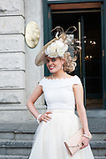 30/07/2015 Ireland&rsquo;s leading model, Roz Purcell,  judgedt the 4 star,  Hotel Meyrick&rsquo;s annual most stylish lady competition on Kilkenny's Ladies Day of Galway Race Week 2015.  <br />  Anne Marie Corbett Co. Cork attended the event .  Photo: Andrew  Downes xposure