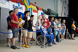 Coach's poolside pen  at 2015 IPC Swimming World Championships -