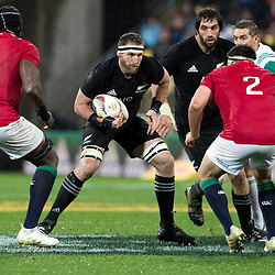 Kieran Read (c)  during game 9 of the British and Irish Lions 2017 Tour of New Zealand, the second Test match between  The All Blacks and British and Irish Lions, Westpac Stadium, Wellington, Saturday 1st July 2017<br /> (Photo by Kevin Booth Steve Haag Sports)<br /> <br /> Images for social media must have consent from Steve Haag