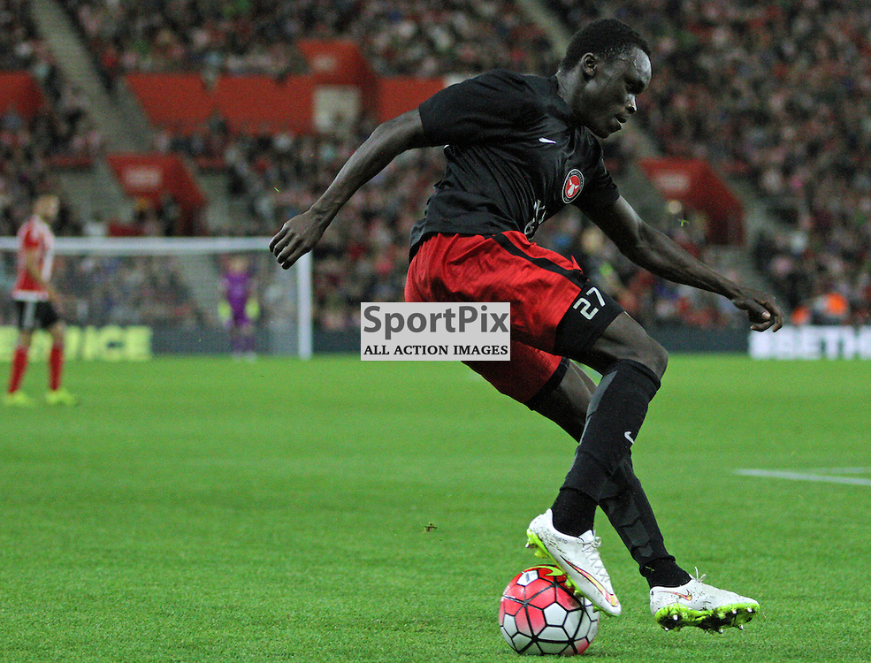 Pione Sisto performs a Ronaldo Chop / Cruyff Turn During Southampton FC vs Fc Midtjylland on Thursday the 20th August 2015.