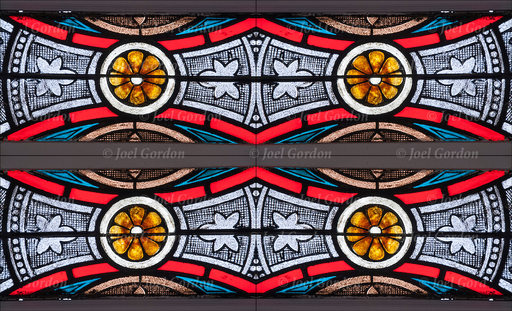 Details of church stained glass window mirrored scaled.