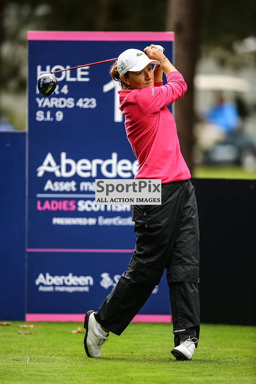 Gwladys Nocera (France) tees off at the 10th. Aberdeen Asset Management Ladies Scottish Open (c) [Neil Bain] | SportPixPix.org.uk