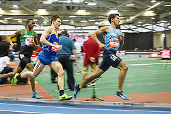 New Balance Indoor Grand Prix track & field, mens 3000 meters, Donn Cabral