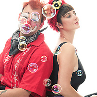 Clown and assistant in the studio, headshot photography, commercial photography, Tucson Photographer