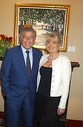 TONY BENNETT and GILL CATTO at a private view of paintings by singer Tony Bennett held at the catto Gallery, 100 Heath Street, London NW3 on 5th April 2005.<br /><br />NON EXCLUSIVE - WORLD RIGHTS