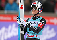 ENGELBERG,SWITZERLAND,17.DEC.17 - NORDIC SKIING, SKI JUMPING - FIS World Cup, large hill, men. Image shows Robert Johansson (NOR).<br /> Norway only