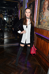 AVA WEST at the launch of MNKY HSE Restaurant, 10 Dover Street, London on 19th October 2016.