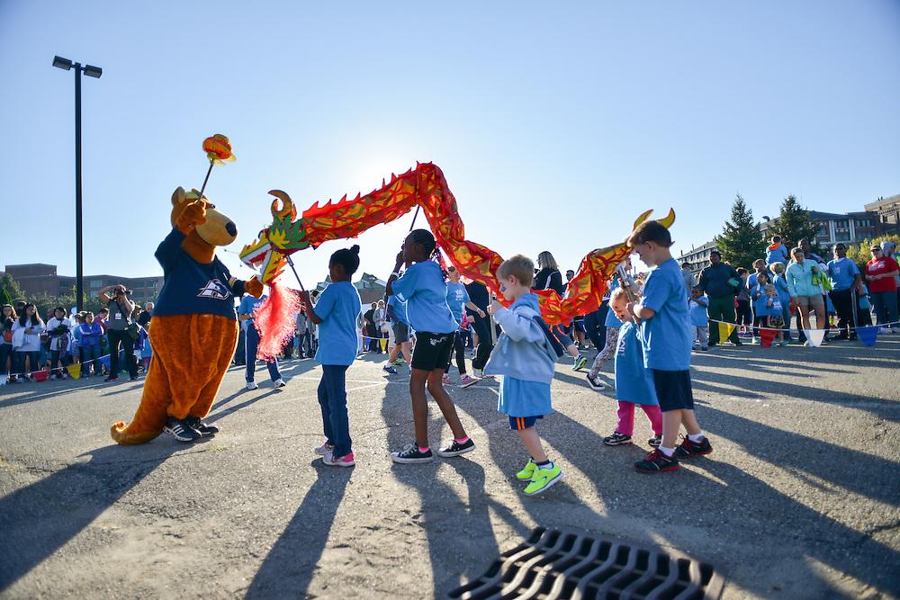 Children preparing for the Kids Fun Run.