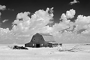 Old barn and clouds<br />Oyen<br />Alberta<br />Canada