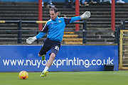 Plymouth Argyle goalkeeper James Bittner  during the Sky Bet League 2 match between York City and Plymouth Argyle at Bootham Crescent, York, England on 14 November 2015. Photo by Simon Davies.