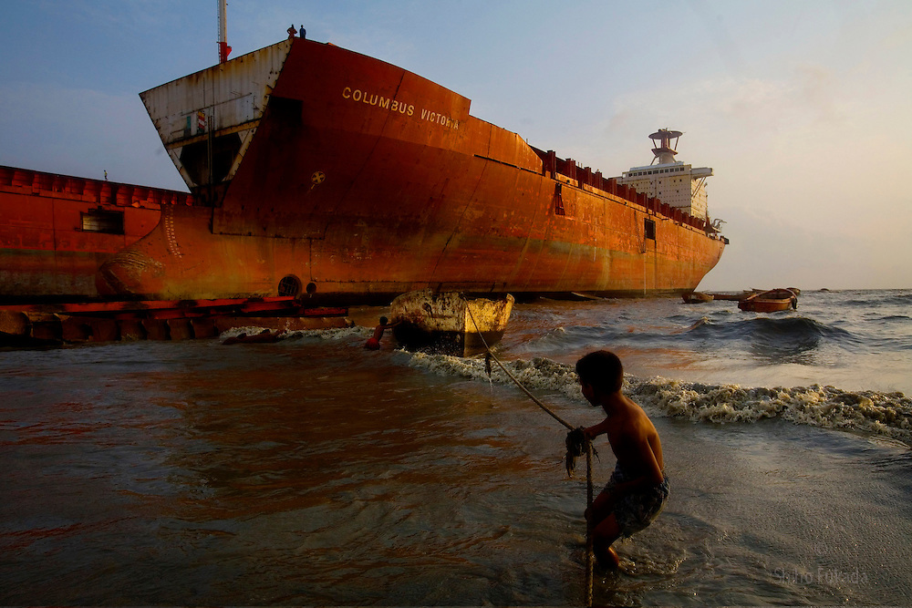 Ship breaking yards are the last resting place for end of life ships. At these yards, ships are scrapped, primarily for their steel content. <br />