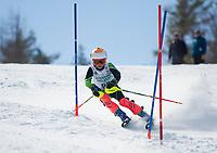Paul Ladouceur Slalom U12 first run with Gunstock Ski Club.  <br /> ©2017 Karen Bobotas Photographer