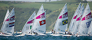 2012 Olympic Games London / Weymouth<br /> Racing day 1 Laser<br /> Laser RadialBRAKostiw Adriana<br /> Laser RadialSUIBrugger Nathalie