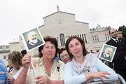 San Giovanni Rotondo 21 Giugno 2009, Visita Pastorale di Sua Santità Papa Benedetto  XVI , Italy San Giovanni Rotondo 21 06 2009, Visit of  Papa Benedetto  XVI in the foto polacchi