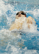 Alex Brion of Canandaigua competes in the 100-yard individual medley at the Section V Class B Swimming Championships at Webster Aquatic Center on Friday, February 14, 2014. Brion won the event in a time of 1:57.91, and Canandaigua won the team title by 82 points over Irondequoit.