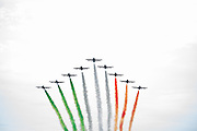 September 4, 2016: Planes fly the Italian national colors , Italian Grand Prix at Monza