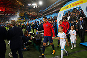 Edinson Cavani of PSG during the French Championship Ligue 1 football match between Olympique de Marseille and Paris Saint-Germain on October 22, 2017 at Orange Velodrome stadium in Marseille, France - Photo Philippe Laurenson / ProSportsImages / DPPI