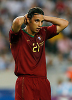 Photo: Glyn Thomas.<br />Germany v Portugal. Third Place Playoff, FIFA World Cup 2006. 08/07/2006.<br /> Portugal's Nuno Gomes looks dejected.