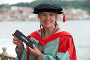 13 July 2012: Scarborough, North Yorkshire.<br /> Actress Penelope Wilton who appears in Downton Abbey at the University of Hull Scarborough Campus today where she received an honorary degree.<br /> Picture: Sean Spencer/Hull News & Pictures<br /> 01482 210267/07976 433960<br /> www.hullnews.co.uk   sean@hullnews.co.uk