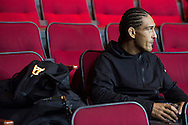 HOUSTON, TX - OCTOBER 2:  Francisco Trevino waits backstage before the UFC 192 weigh-in at the Toyota Center on October 2, 2015 in Houston, Texas. (Photo by Cooper Neill/Zuffa LLC/Zuffa LLC via Getty Images) *** Local Caption *** Francisco Trevino