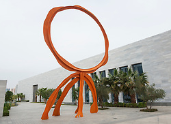 Sculpture in grounds of the new Sheikh Abdullah al Salem Cultural Centre in Kuwait City, Kuwait