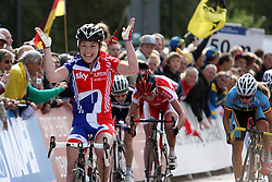 Winner Lucy Garner (Great Britain) during the Women´s Junior Road Race on day five of the UCI Road World Championships on September 23, 2011 in Copenhagen, Denmark. (Photo by Marjan Kelner / Sportida Photo Agency)