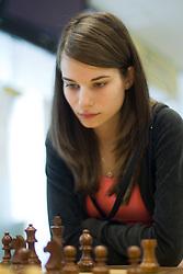 Slovenian Grandmaster Vesna Rozic in action during the National Chess Championships in Ljubljana on August 9, 2010.  (Photo by Vid Ponikvar / Sportida)