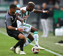 28.10.2018, Allianz Stadion, Wien, AUT, 1. FBL, SK Rapid Wien vs FC Flyeralarm Admira, 12. Runde, im Bild Marco Sahanek (FC Flyeralarm Admira) und Boli Bolingoli Mbombo (SK Rapid Wien) // during Austrian Football Bundesliga Match, 12th Round, between SK Rapid Vienna and FC Flyeralarm Admira at the Allianz Arena, Vienna, Austria on 2018/10/28. EXPA Pictures © 2018, PhotoCredit: EXPA/ Thomas Haumer