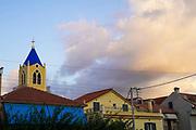 Church and belfry, Argostoli on the Greek Island of Cephalonia, Ionian Sea, Greece