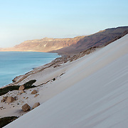 Erher dunes, east coast, Socotra island, listed as World Heritage by UNESCO, Aden Governorate, Yemen, Arabia, West Asia