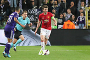 Michael Carrick Midfielder of Manchester United during the UEFA Europa League Quarter-final, Game 1 match between Anderlecht and Manchester United at Constant Vanden Stock Stadium, Anderlecht, Belgium on 13 April 2017. Photo by Phil Duncan.