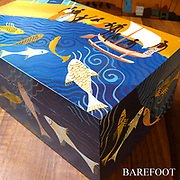 Painted boxes for BAREFOOT BAREFOOT. Hand painted wooden boxes.
