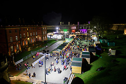 The Lincoln Christmas Market stalls inside the grounds of Lincoln Castle seen from the Castle wall walk at night.<br /> <br /> Picture: Chris Vaughan Photography<br /> Date: December 6, 2019
