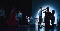 Escuela de Baile students prepare for rehearsal at the Peacock Theatre
