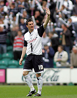 Photo: Paul Thomas.<br /> Preston North End v Birmingham City. Coca Cola Championship. 06/05/2007.<br /> <br /> David Nugent of Preston waves as he comes onto the pitch before play.