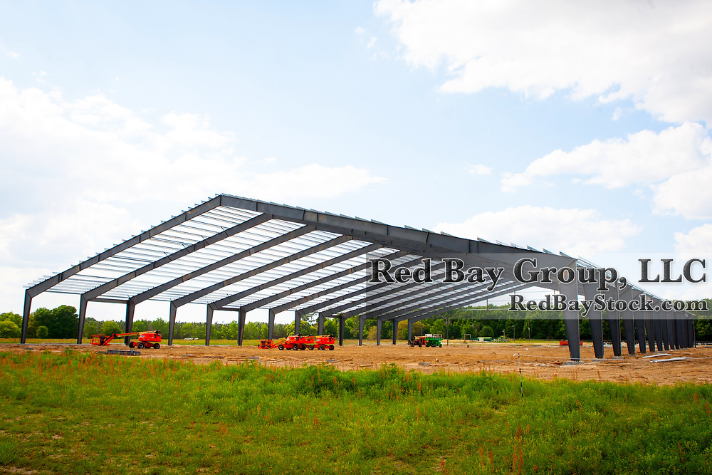 Indoor arena construction at the Florida Horse Park in Ocala, Florida.