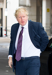 © Licensed to London News Pictures. 18/03/2018. London, UK. Foreign and Commonwealth Secretary Boris Johnson arriving at BBC Broadcasting House to appear on The Andrew Marr Show this morning. Photo credit : Tom Nicholson/LNP