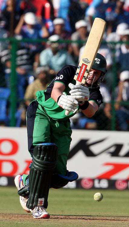 Ireland Captain William Porterfield plays a shot during the ICC Cricket World Cup - 22nd Match, Group B, India vs Ireland Played at M Chinnaswamy Stadium, Bangalore, 6 March 2011 - day/night (50-over match)