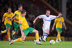 NORWICH, WALES - Saturday, November 14, 2009: Tranmere Rovers' Chris Shuker in action against Norwich City during the League One match at Carrow Road. (Pic by David Rawcliffe/Propaganda)