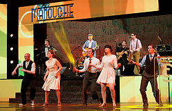 Manouche group and Kjara  dancers perform at Slovenian Sports personality of the year 2012 annual awards presented on the base of Slovenian sports reporters, on December 20, 2011 in Cankarjev dom, Ljubljana, Slovenia. (Photo By Vid Ponikvar / Sportida.com)