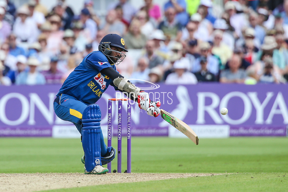Sri Lanka's Upal Tharanga is caught behind by Englands Jos Buttler during the Royal London ODI match between England and Sri Lanka at Trent Bridge, West Bridgford, United Kingdon on 21 June 2016. Photo by Shane Healey.