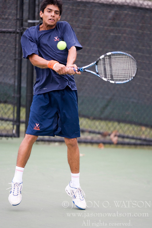 Sanam Singh - University of Virginia..The 6th Annual Virginia Fall Invitational Men's NCAA Tennis tournament was held in Charlottesville, VA on September 14, 2007.