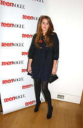 PRINCESS BEATRICE OF YORK at the opening of an exhibition entitled Exceptional Youth supported by Teen Vogue at the National Portrait Gallery, London on 3rd November 2006.<br />